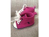 Ralph Lauren baby girls pink trainers size 2 1/2