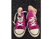 Girls purple converse boots size 13
