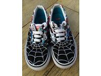 Boys VANS Superhero Spiderman shoes size 12.5