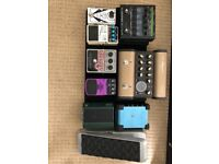Guitar pedalboard and pedals for sale