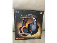 G2000 3.5mm Stereo Surround PC Gaming Headset Headset Headphones micro +USB F/ blue light