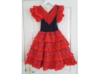 GIRLS FLAMENCO SPANISH DRESS WITH ACCESSORIES