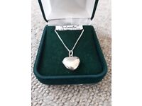 Sterling silver locket necklace