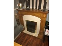 Lovely wooden fireplace and electric fire £100 includes delivery anywhere in glasgow