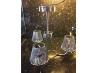 3 Arm Silver Light Fitting