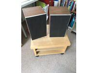 Pair of vintage 1970s Leak hi-fi speakers in good condition