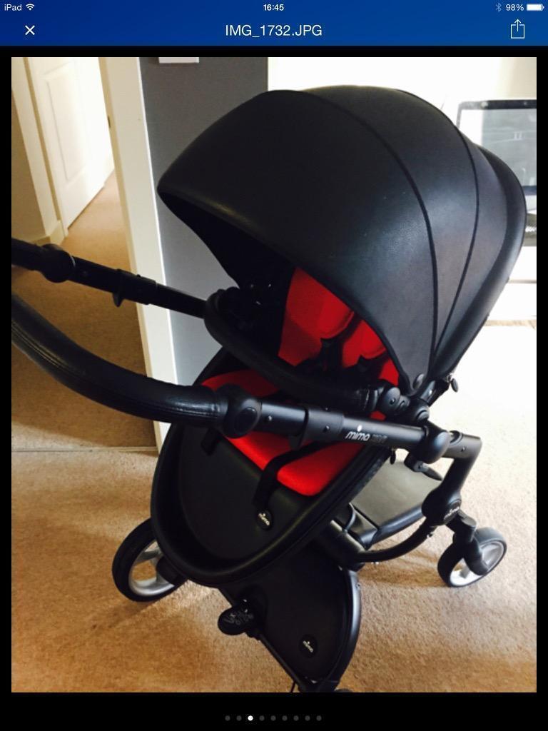 Mima Xari Stroller Black Be Safe IZi Go Car Seat Excellent Condition