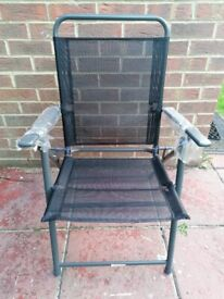 Black garden chairs - Set of 6