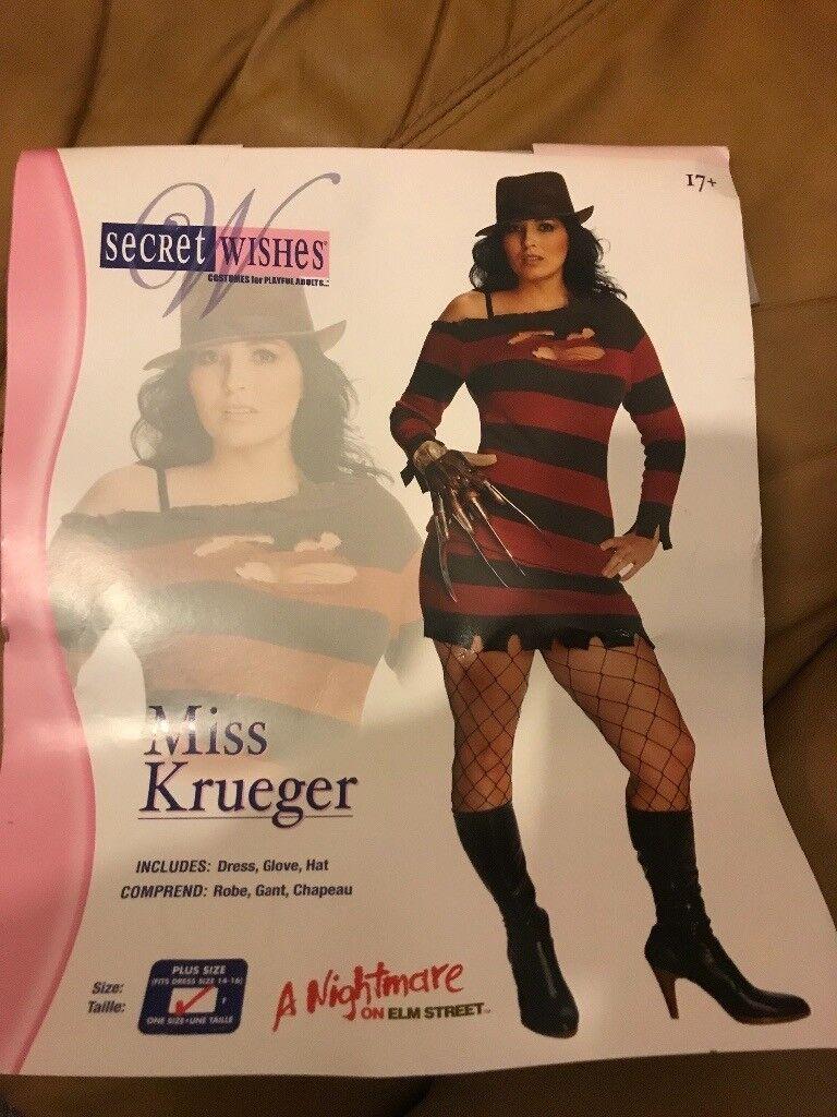 halloween- freddie krueger costume ladies 16-18 | in bonnyrigg