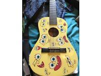 Spongebob squarepants kids acoustic guitar