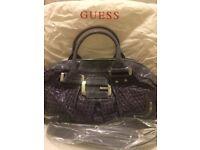 NEW! GUESS Purple Faux Croc Handbag