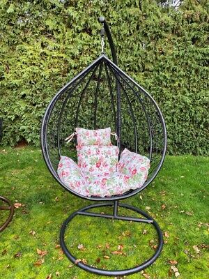 Egg Chair Swing Chair Black mesh With Cushion & Cover