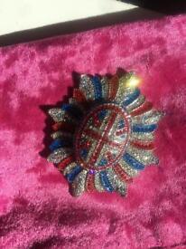 Wilson & butler union jack brooch