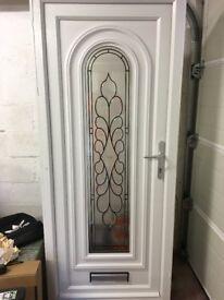 white upvc external door 1960x830