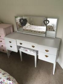 Shabby Chic Dressing table (pale grey)