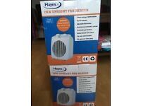 2 upright fan heaters