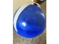 25 piece sturdy picnic set in carry ball. Bright blue. Unused