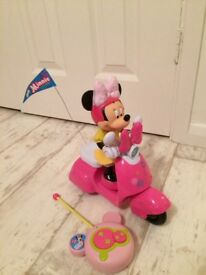 Remote controlled Disney Minnie Mouse scooter