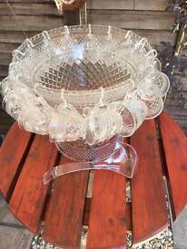 Vintage Wexford punch bowl set