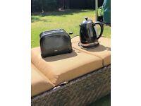 Black Sparkle Goodmans Toaster and Kettle