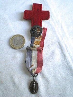 Antique Pin and Medal Religious Year of / the Jubilee 1950