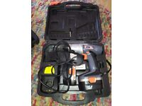 Extreme 14.4 volt drill with carry case and spare battery