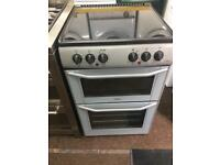 Silver belling 55cm ceramic hub electric cooker grill & double fan assisted ovens with guarantee