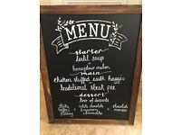 Large wedding or event menu chalk board