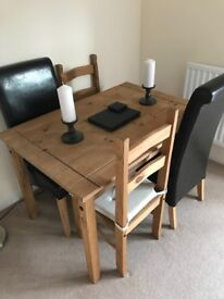 Dining room table and 6 x chairs