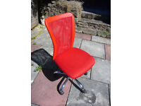 Red office swivel chair