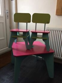 ELC wooden table and chairs/ study table