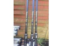 X3 wychwood rage carp rods