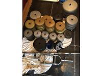 209kg Plastic Weights, Bars And Ab Wheels