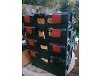 Used stackable tool boxes