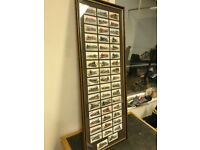 FRAME OF 50 RAILWAY CARDS/TRAINS COLLECTABLES CIGARETTE CARDS