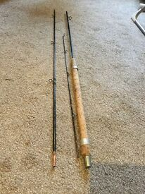 10 1/2 foot fishing rod. One of a kind, made from tank aerial.