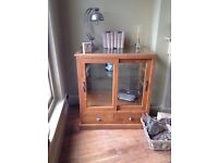 Oak Wood Glazed Display Cabinets ( 3 in total)