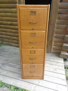 ANTIQUE OAK FILE CABINET