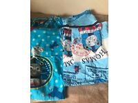 Thomas the tank engine single bedding set and matching curtains