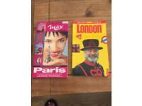 City guides Paris and London