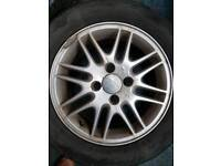 4 stud Ford focus alloys and tyres