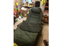 trakker fishing carp bed and nash sleeping bag
