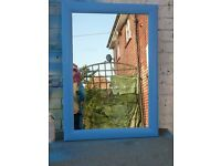 Spa Blue Framed Mirror