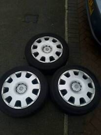 3 part worn wheels off vectra