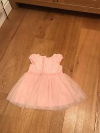 Girls Next Pink Dress 6-9 months