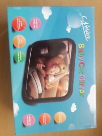 In car baby monitor mirror
