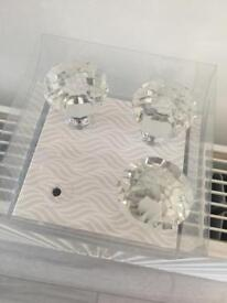 Handles Large Crystal draw knobs