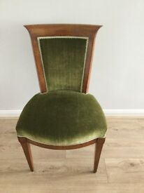 Attractive upholstered chair. Perfect for the bedroom or living room.
