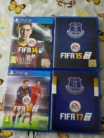 FIFA 14, 15, 16 and 17