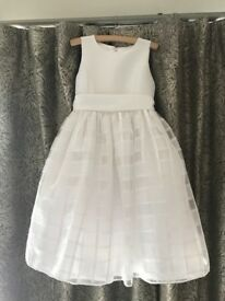 stunning white children's dress